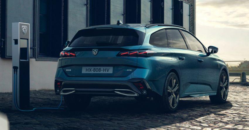 2022 Peugeot 308 SW debuts – longer wheelbase, 608 litres of boot space; 1.6L PHEV, up to 60 km e-range Image #1310287