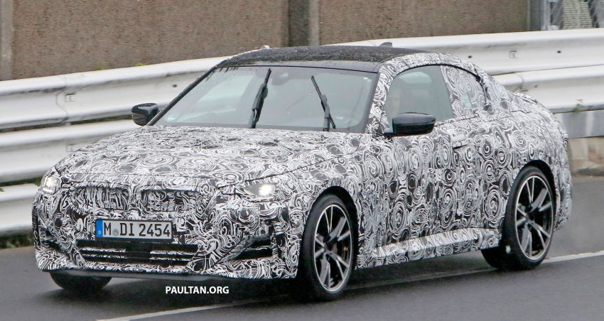 SPYSHOTS: 2022 BMW 2 Series Coupe with less camo Image #1311812