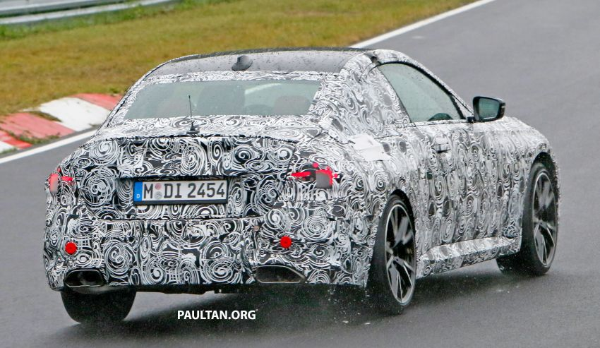 SPYSHOTS: 2022 BMW 2 Series Coupe with less camo Image #1311836