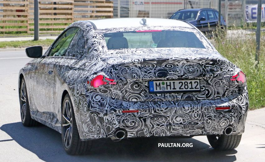 SPYSHOTS: 2022 BMW 2 Series Coupe with less camo Image #1311846