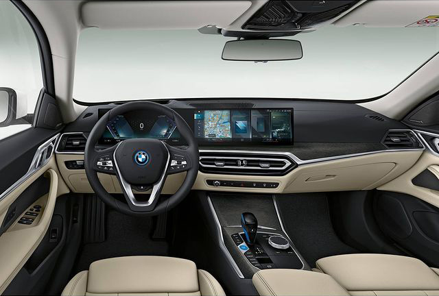 BMW i4 interior photos leaked ahead of EV's full debut Image #1300980