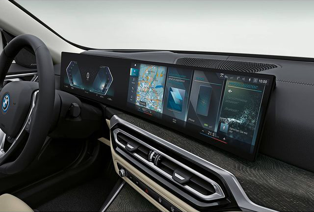 BMW i4 interior photos leaked ahead of EV's full debut Image #1300981