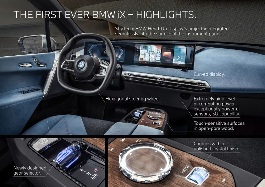BMW iX fully detailed – power, range bumped slightly to up to 523 PS, 630 km; new M60 with over 600 PS Image #1302054