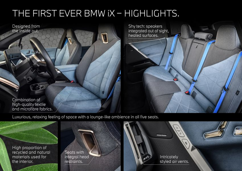 BMW iX fully detailed – power, range bumped slightly to up to 523 PS, 630 km; new M60 with over 600 PS Image #1302055
