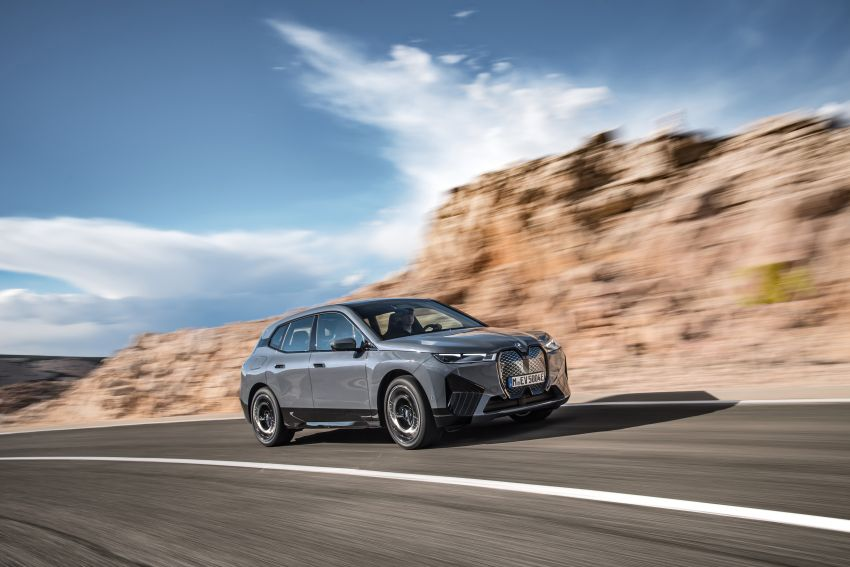 BMW iX fully detailed – power, range bumped slightly to up to 523 PS, 630 km; new M60 with over 600 PS Image #1301870