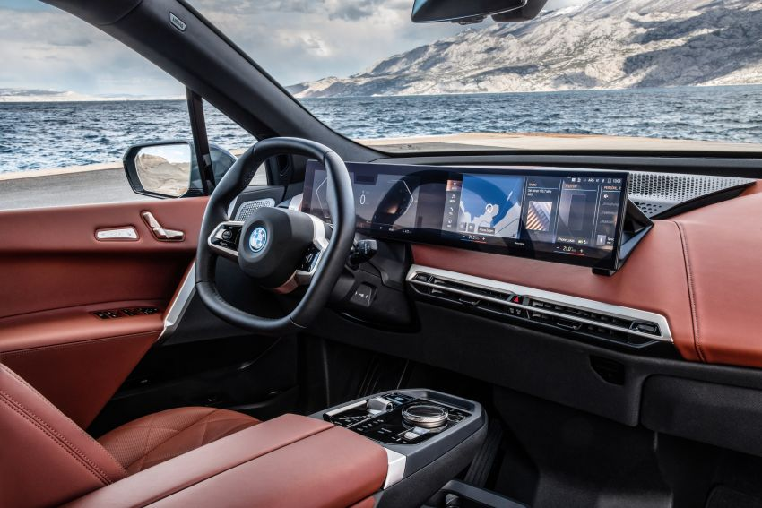 BMW iX fully detailed – power, range bumped slightly to up to 523 PS, 630 km; new M60 with over 600 PS Image #1301919