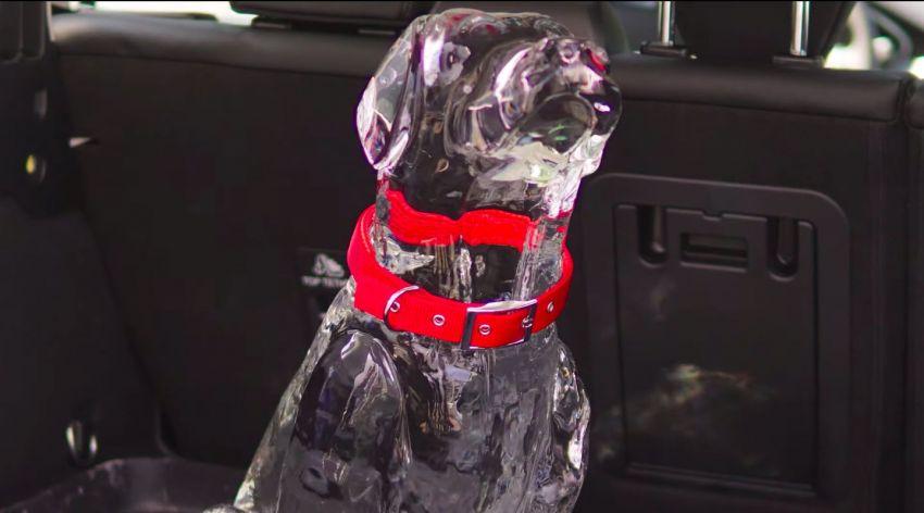 Ford buat demonstrasi bahaya haba dalam kereta dengan ais berbentuk kanak-kanak dan haiwan Image #1311695