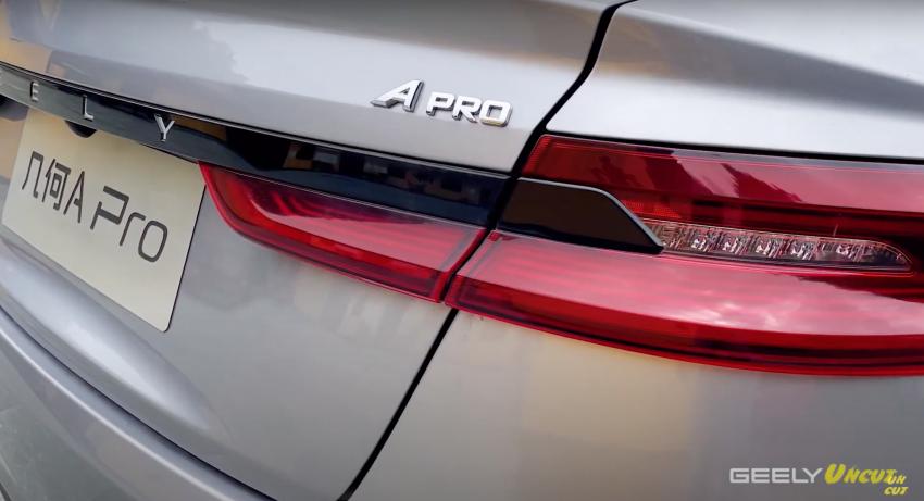 VIDEO: Geometry A Pro – Geely's improved sedan EV has more power/torque, 70 kWh batt for 600 km range Image #1312676