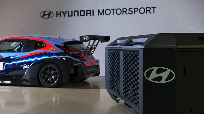 Hyundai's HTWO fuel cell generator to power world's first ETCR (Electric Touring Car Racing) category Image #1309014