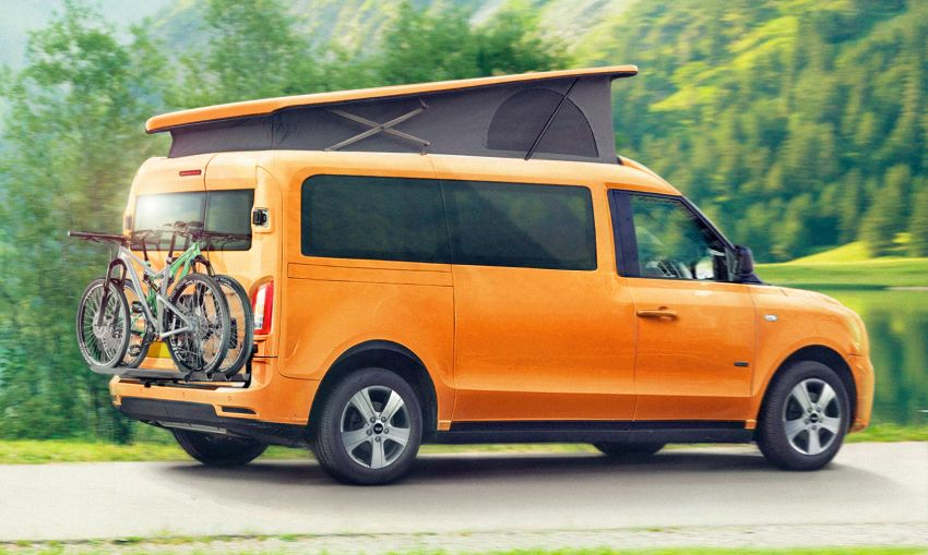 LEVC e-Camper – taxi maker's electric campervan has 1.5L range extender with 98 km EV range, sleeps four Image #1313021