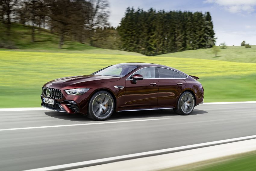 Mercedes-AMG GT 4-Door Coupé facelift revealed with minor aesthetic, kit upgrades – V8 models coming later Image #1307314
