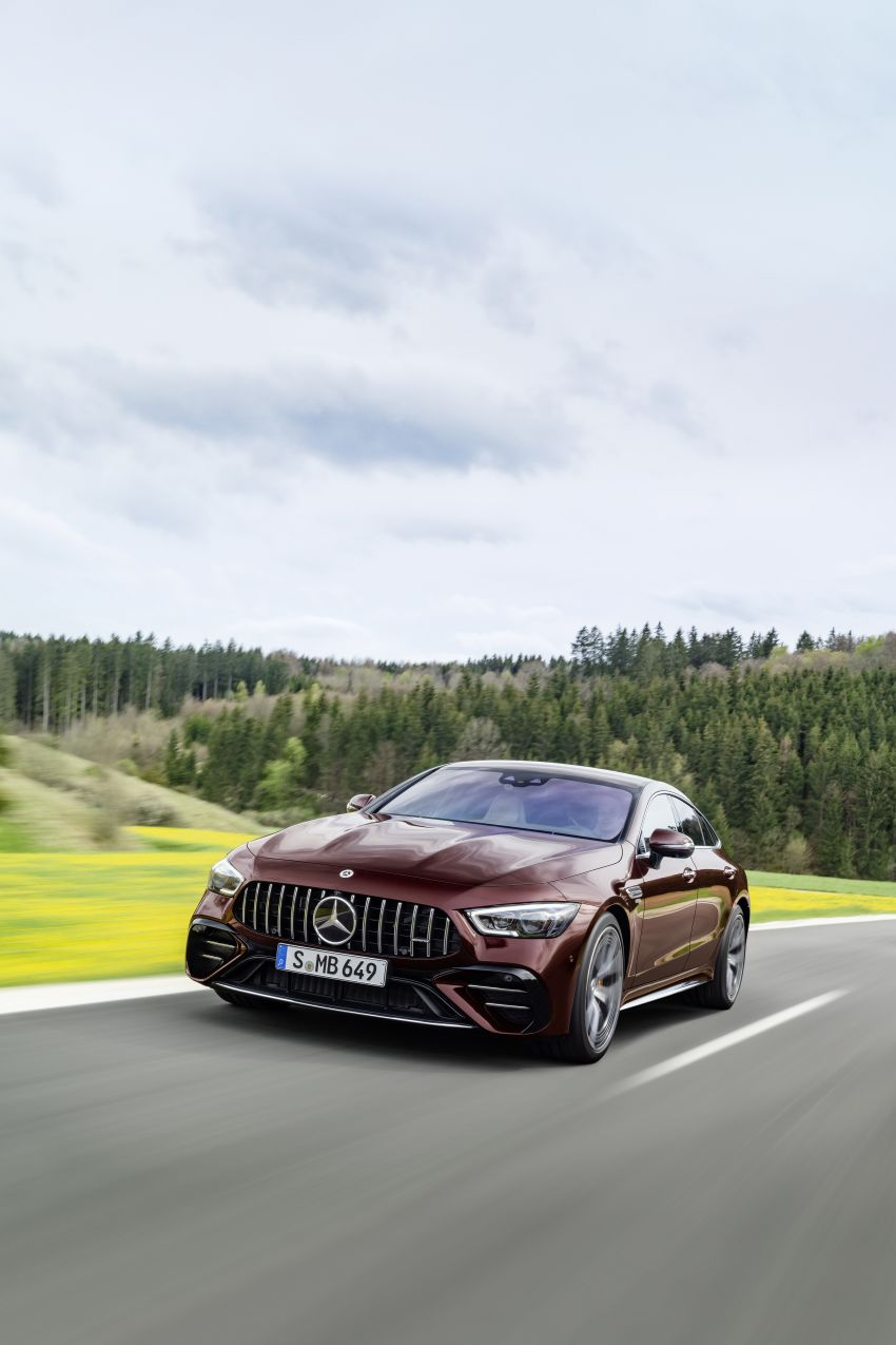 Mercedes-AMG GT 4-Door Coupé facelift revealed with minor aesthetic, kit upgrades – V8 models coming later Image #1307321