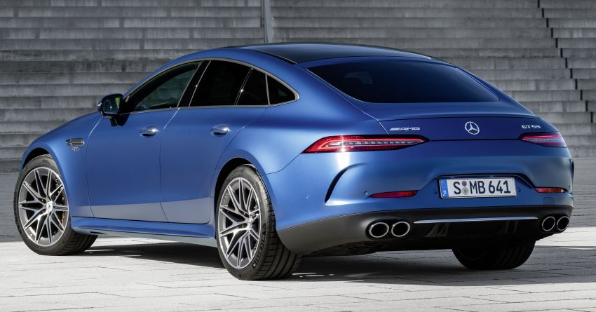 Mercedes-AMG GT 4-Door Coupé facelift revealed with minor aesthetic, kit upgrades – V8 models coming later Image #1307323