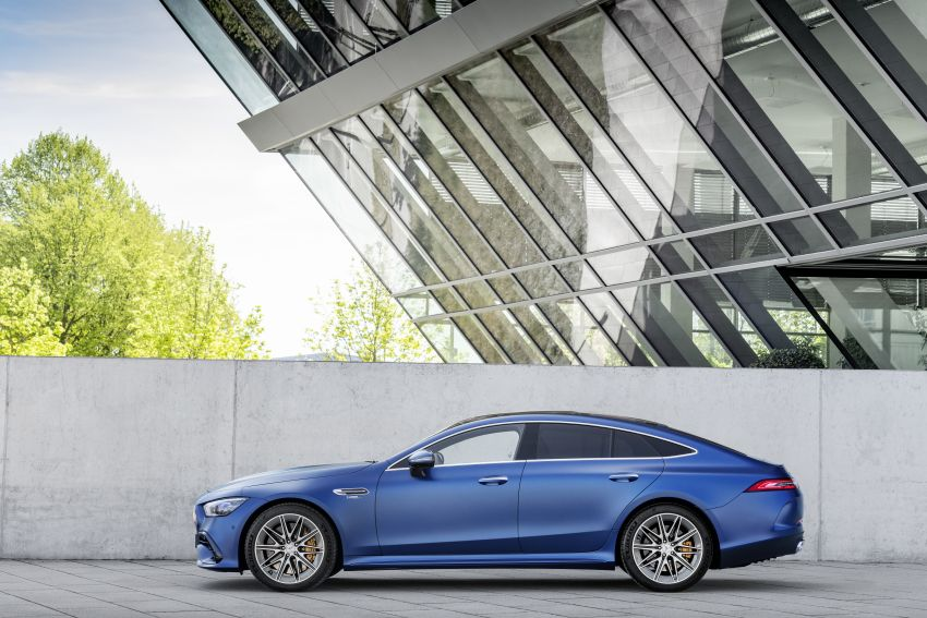 Mercedes-AMG GT 4-Door Coupé facelift revealed with minor aesthetic, kit upgrades – V8 models coming later Image #1307325