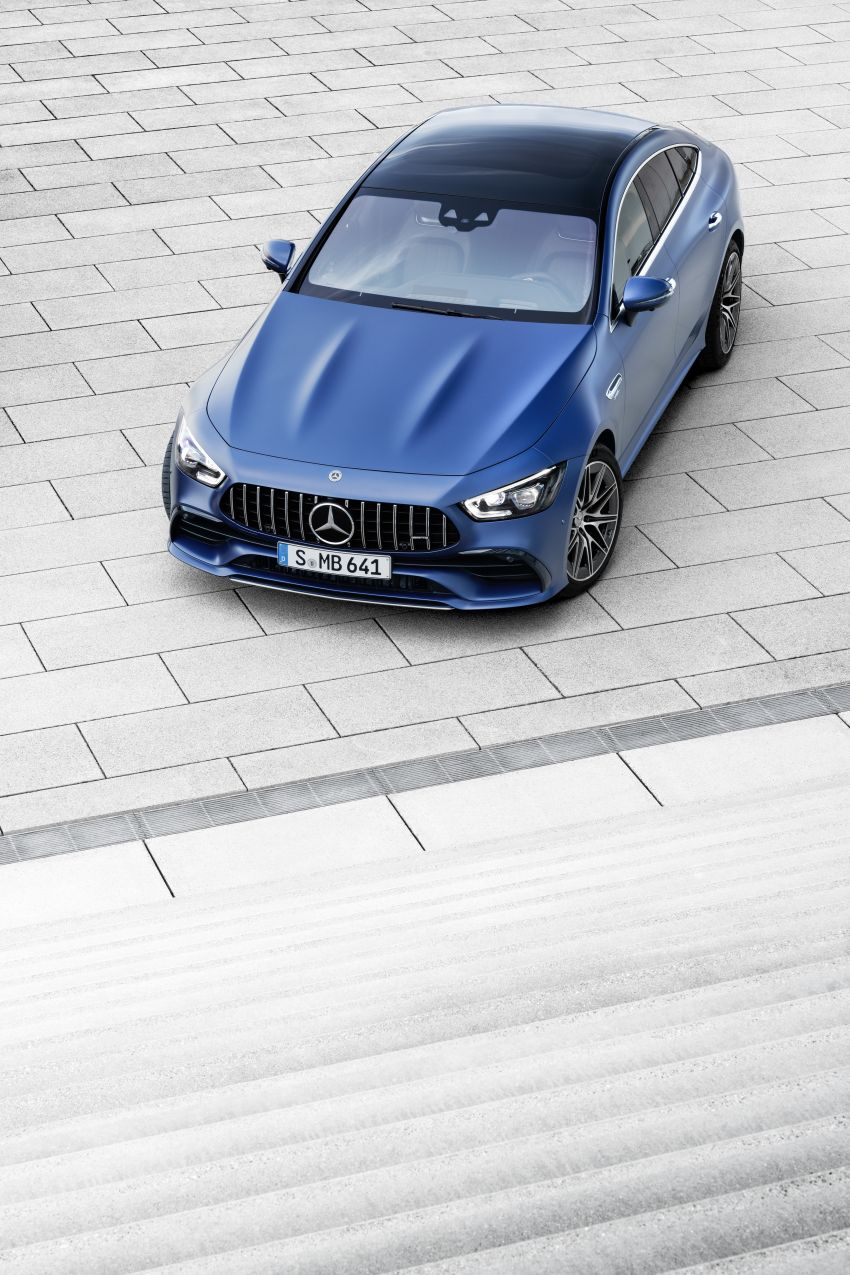 Mercedes-AMG GT 4-Door Coupé facelift revealed with minor aesthetic, kit upgrades – V8 models coming later Image #1307326
