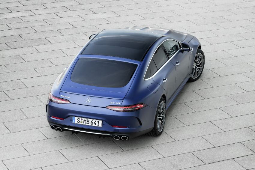 Mercedes-AMG GT 4-Door Coupé facelift revealed with minor aesthetic, kit upgrades – V8 models coming later Image #1307327