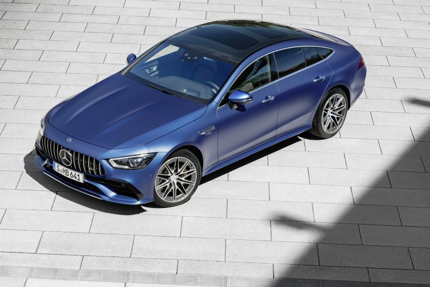 Mercedes-AMG GT 4-Door Coupé facelift revealed with minor aesthetic, kit upgrades – V8 models coming later Image #1307329