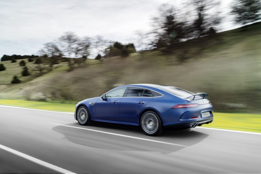 Mercedes-AMG GT 4-Door Coupé facelift revealed with minor aesthetic, kit upgrades – V8 models coming later Image #1307337