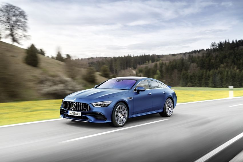 Mercedes-AMG GT 4-Door Coupé facelift revealed with minor aesthetic, kit upgrades – V8 models coming later Image #1307339