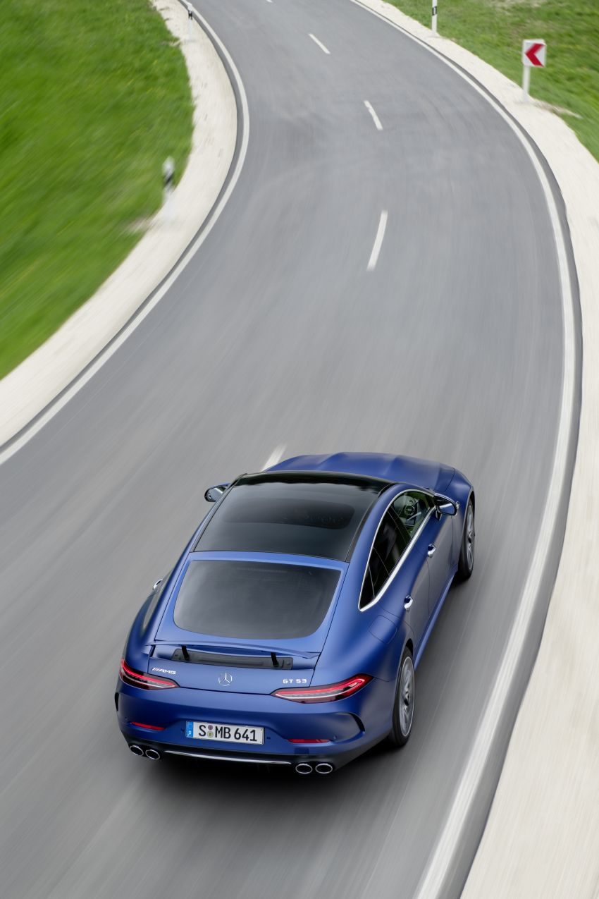 Mercedes-AMG GT 4-Door Coupé facelift revealed with minor aesthetic, kit upgrades – V8 models coming later Image #1307341