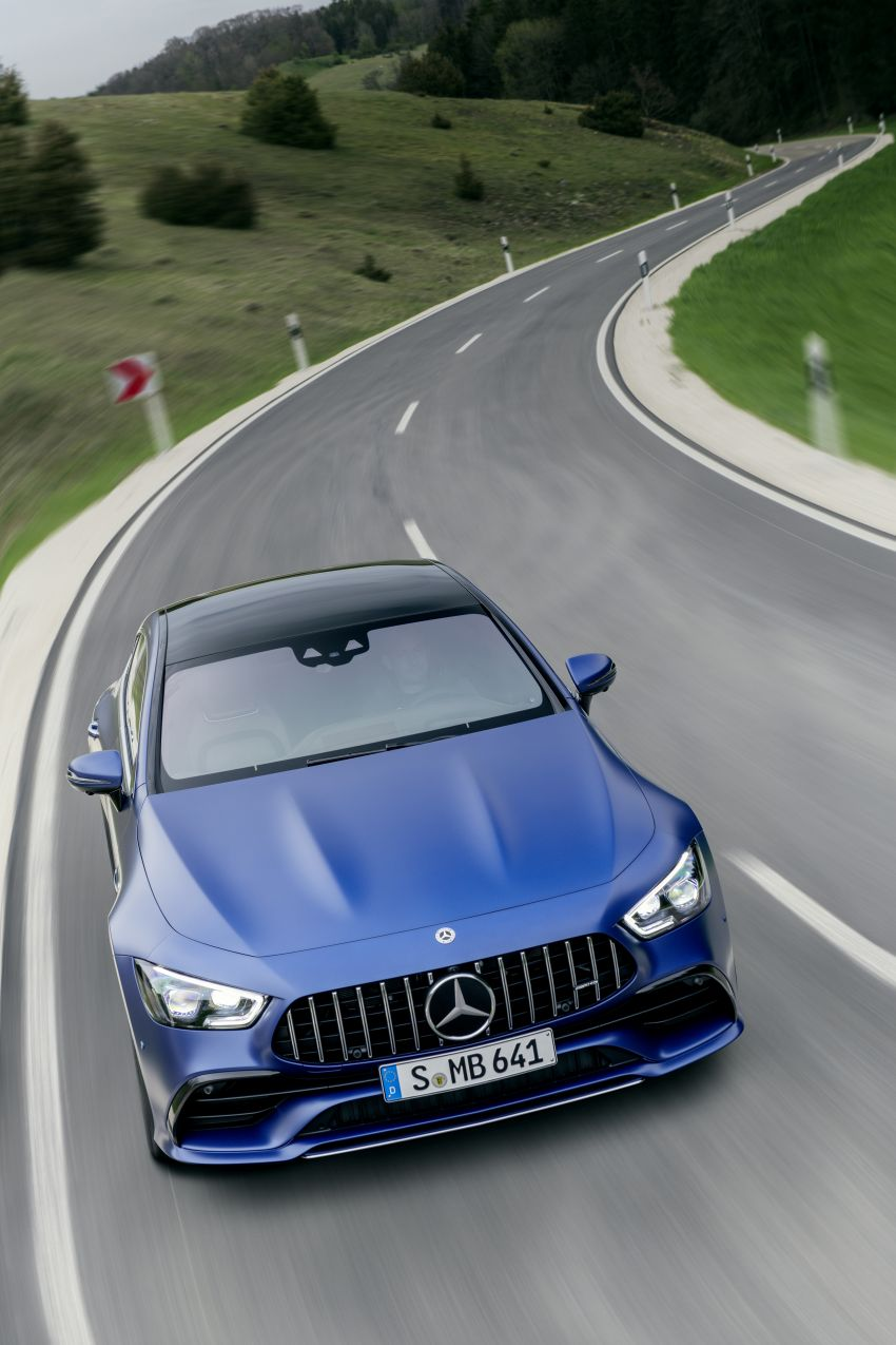 Mercedes-AMG GT 4-Door Coupé facelift revealed with minor aesthetic, kit upgrades – V8 models coming later Image #1307342