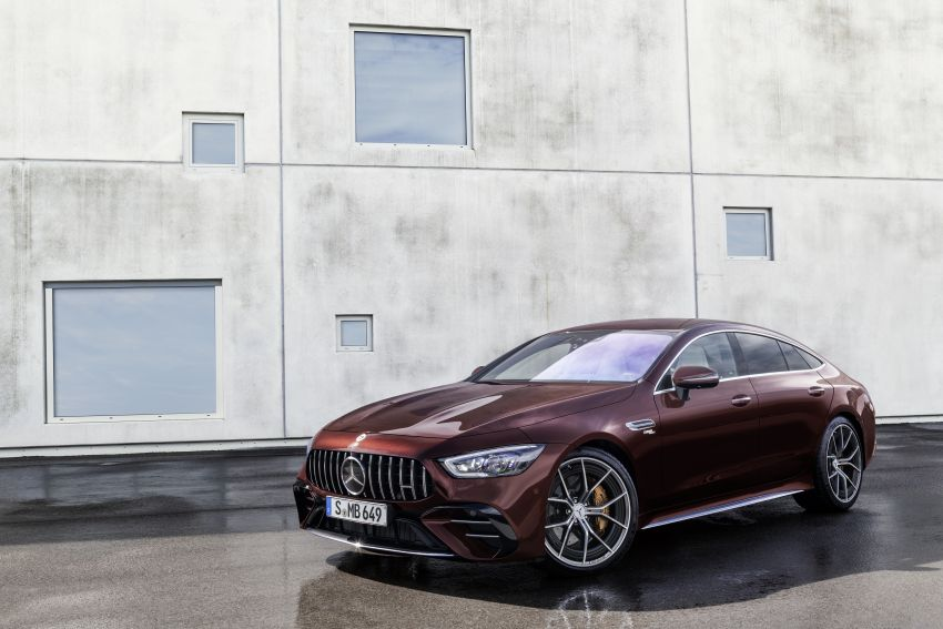 Mercedes-AMG GT 4-Door Coupé facelift revealed with minor aesthetic, kit upgrades – V8 models coming later Image #1307308