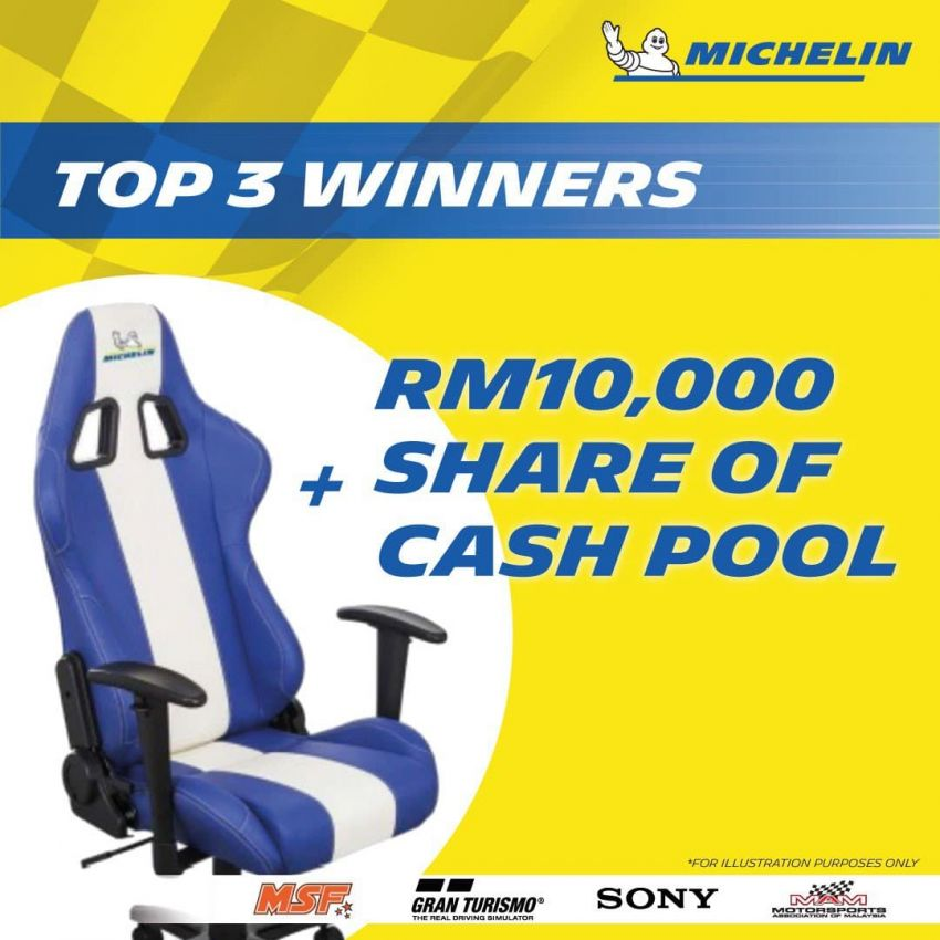 Michelin Virtual Racing Series in Malaysia – win tyres, gaming chair, merchandise, plus RM10,000 cash pool! Image #1310574
