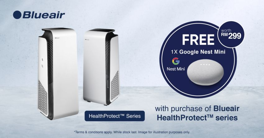 AD: Buy a Blueair HealthProtect or Cabin Air purifier; get a Google Nest Mini, particle filter and more, free! Image #1310000