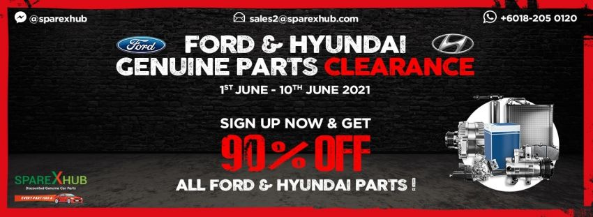 Sime Darby Motors and SpareXHub announce 10-day clearance sale of Ford, Hyundai spares, up to 90% off Image #1302684