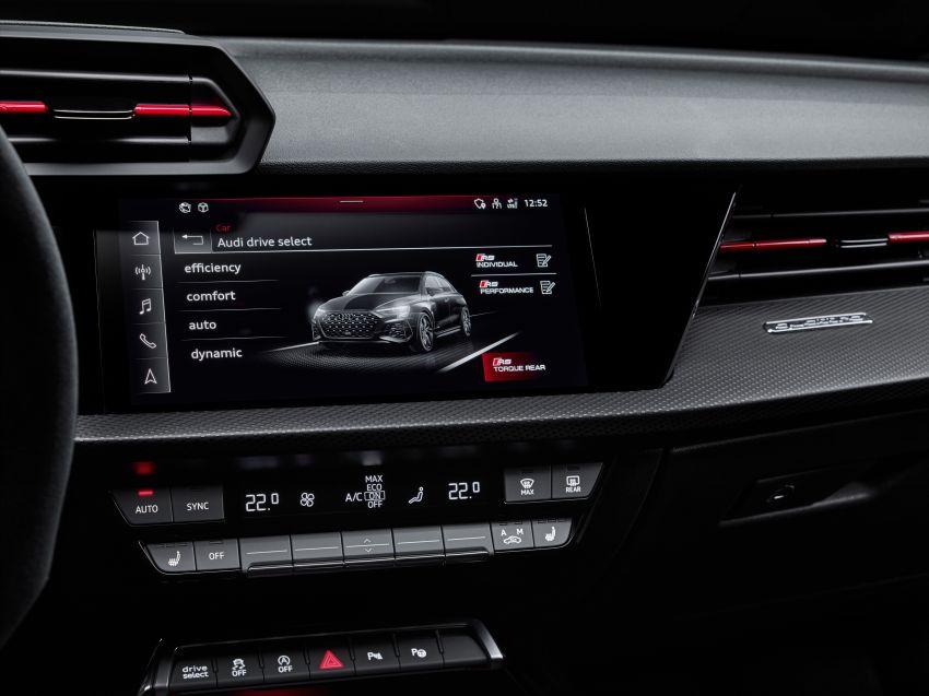 2022 Audi RS3 Sportback and RS3 Sedan debut – 400 PS/500 Nm 2.5 litre TFSI, Torque Splitter rear axle Image #1320843