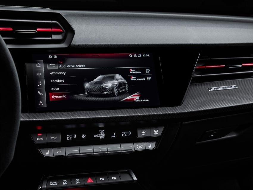 2022 Audi RS3 Sportback and RS3 Sedan debut – 400 PS/500 Nm 2.5 litre TFSI, Torque Splitter rear axle Image #1320845
