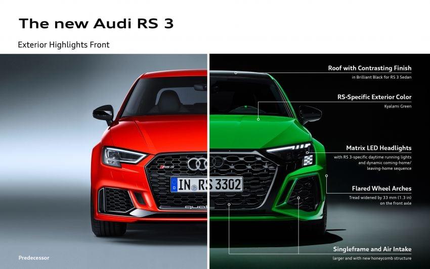 2022 Audi RS3 Sportback and RS3 Sedan debut – 400 PS/500 Nm 2.5 litre TFSI, Torque Splitter rear axle Image #1320989