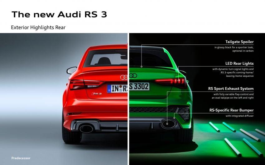 2022 Audi RS3 Sportback and RS3 Sedan debut – 400 PS/500 Nm 2.5 litre TFSI, Torque Splitter rear axle Image #1320990