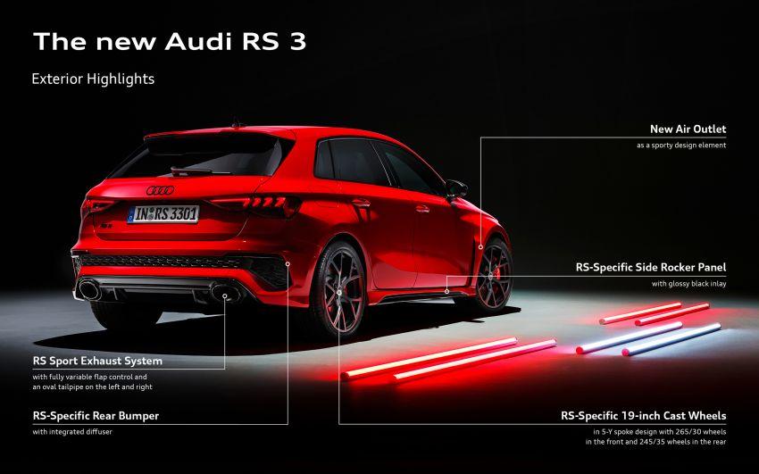 2022 Audi RS3 Sportback and RS3 Sedan debut – 400 PS/500 Nm 2.5 litre TFSI, Torque Splitter rear axle Image #1320991
