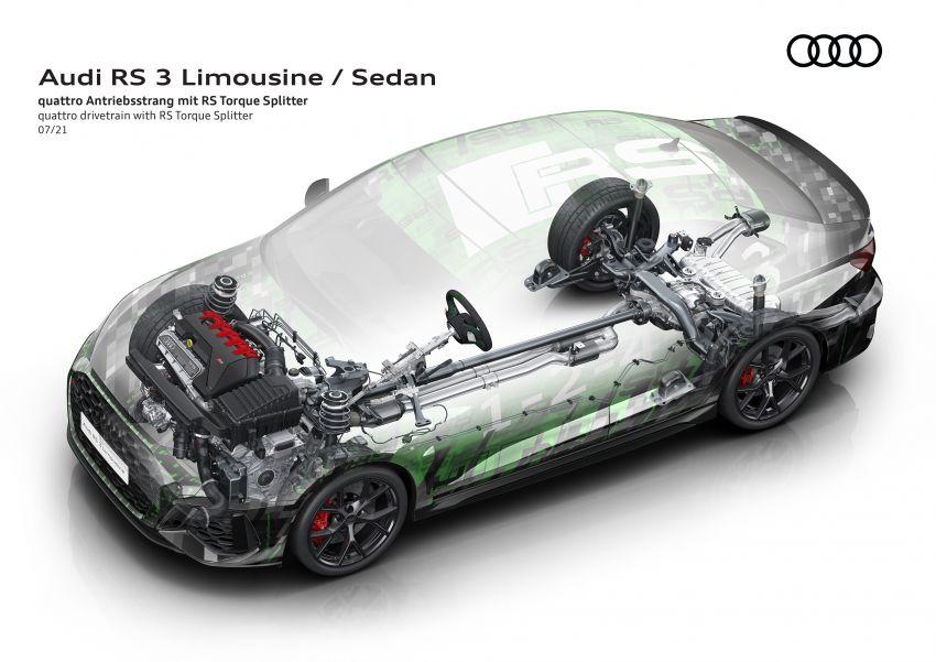 2022 Audi RS3 Sportback and RS3 Sedan debut – 400 PS/500 Nm 2.5 litre TFSI, Torque Splitter rear axle Image #1321110