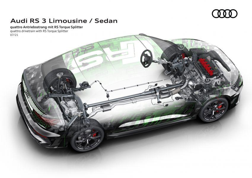 2022 Audi RS3 Sportback and RS3 Sedan debut – 400 PS/500 Nm 2.5 litre TFSI, Torque Splitter rear axle Image #1321111