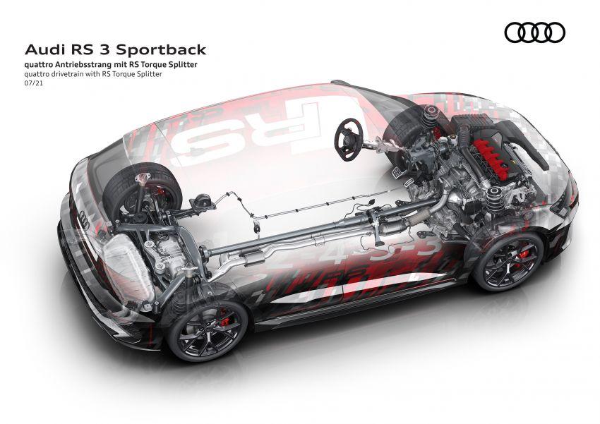 2022 Audi RS3 Sportback and RS3 Sedan debut – 400 PS/500 Nm 2.5 litre TFSI, Torque Splitter rear axle Image #1321135