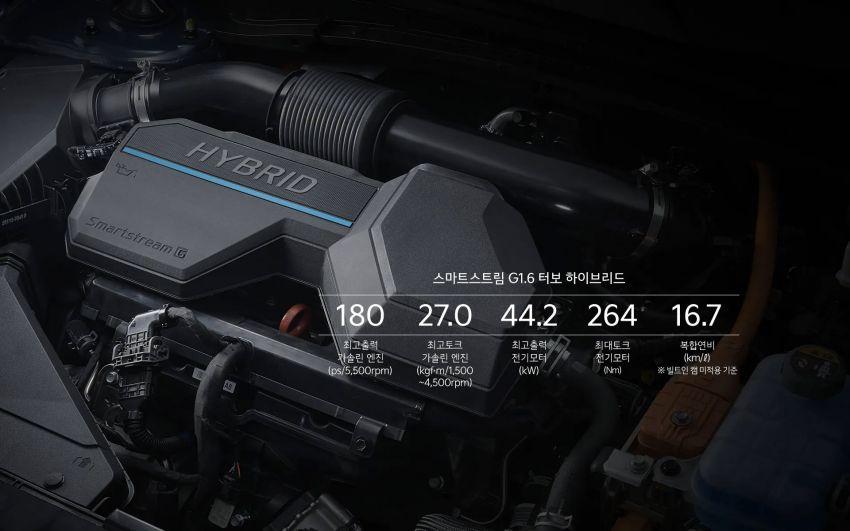 Kia Sportage Hybrid 2021 dilancar di Korea Selatan – enjin 1.6L turbo dan e-motor; 230 PS/350 Nm; 16.7 km/l Image #1322261