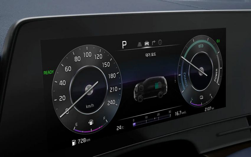 2021 Kia Sportage Hybrid debuts in South Korea – 1.6L turbo engine and e-motor; 230 PS, 350 Nm; 16.7 km/l Image #1322216