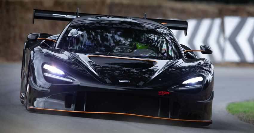 McLaren 720S GT3X is the fastest supercar at the 2021 Goodwood hill climb – 45.01 seconds, beats the P1 LM Image #1318713
