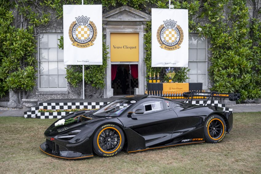 McLaren 720S GT3X is the fastest supercar at the 2021 Goodwood hill climb – 45.01 seconds, beats the P1 LM Image #1318714
