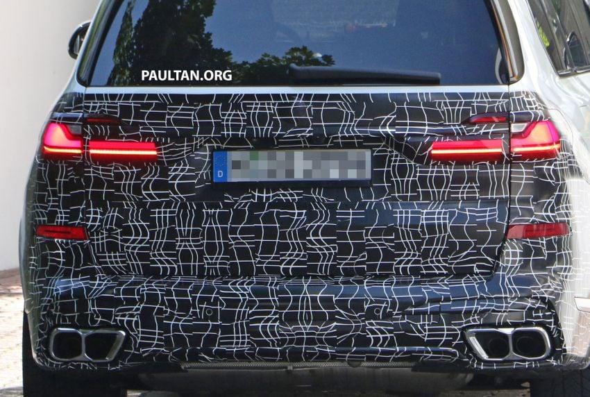 SPYSHOTS: BMW X7 LCI to come with split headlights Image #1315881