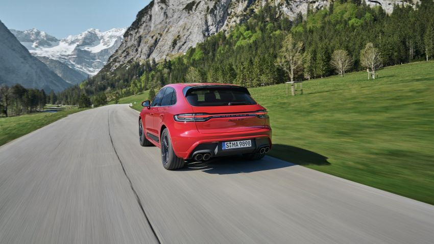 2022 Porsche Macan facelift – revised petrol SUV revealed with more power, minor aesthetic tweaks Image #1321233