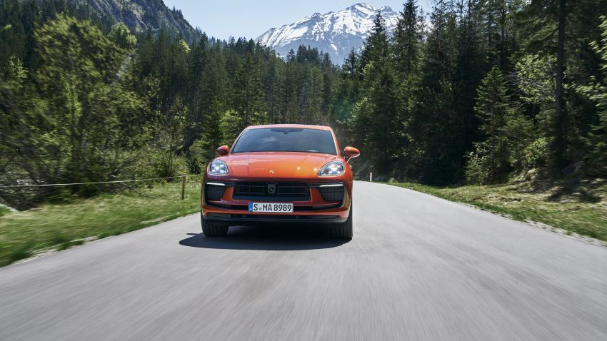 2022 Porsche Macan facelift – revised petrol SUV revealed with more power, minor aesthetic tweaks Image #1321222