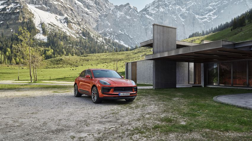 2022 Porsche Macan facelift – revised petrol SUV revealed with more power, minor aesthetic tweaks Image #1321223