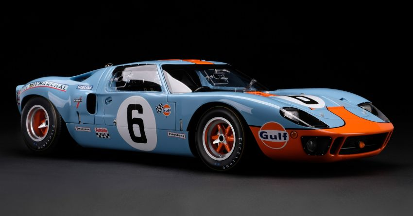 1969 Le Mans-winning Ford GT40 expertly recreated as a 1:8 scale model by Amalgam Collection – RM55k Image #1321441