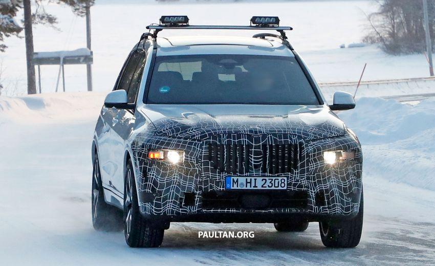 SPYSHOTS: BMW X7 LCI to come with split headlights Image #1315885
