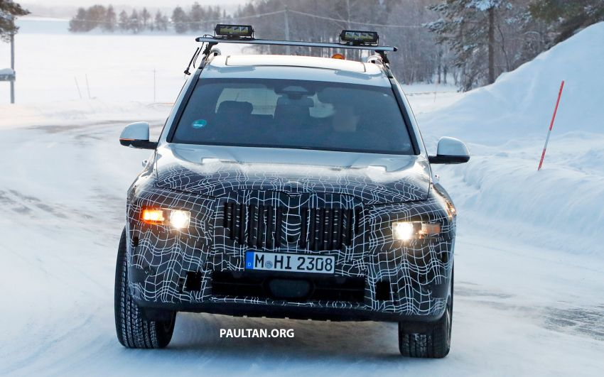 SPYSHOTS: BMW X7 LCI to come with split headlights Image #1315887