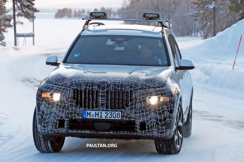 SPYSHOTS: BMW X7 LCI to come with split headlights Image #1315888