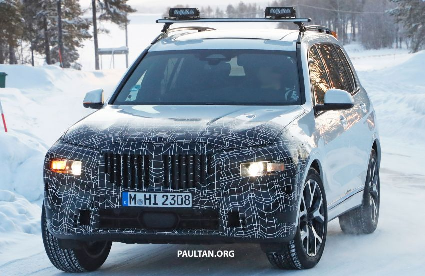 SPYSHOTS: BMW X7 LCI to come with split headlights Image #1315889